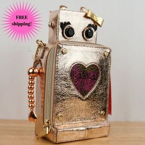 Betsey Johnson Love Machine Robot Crossbody Purse